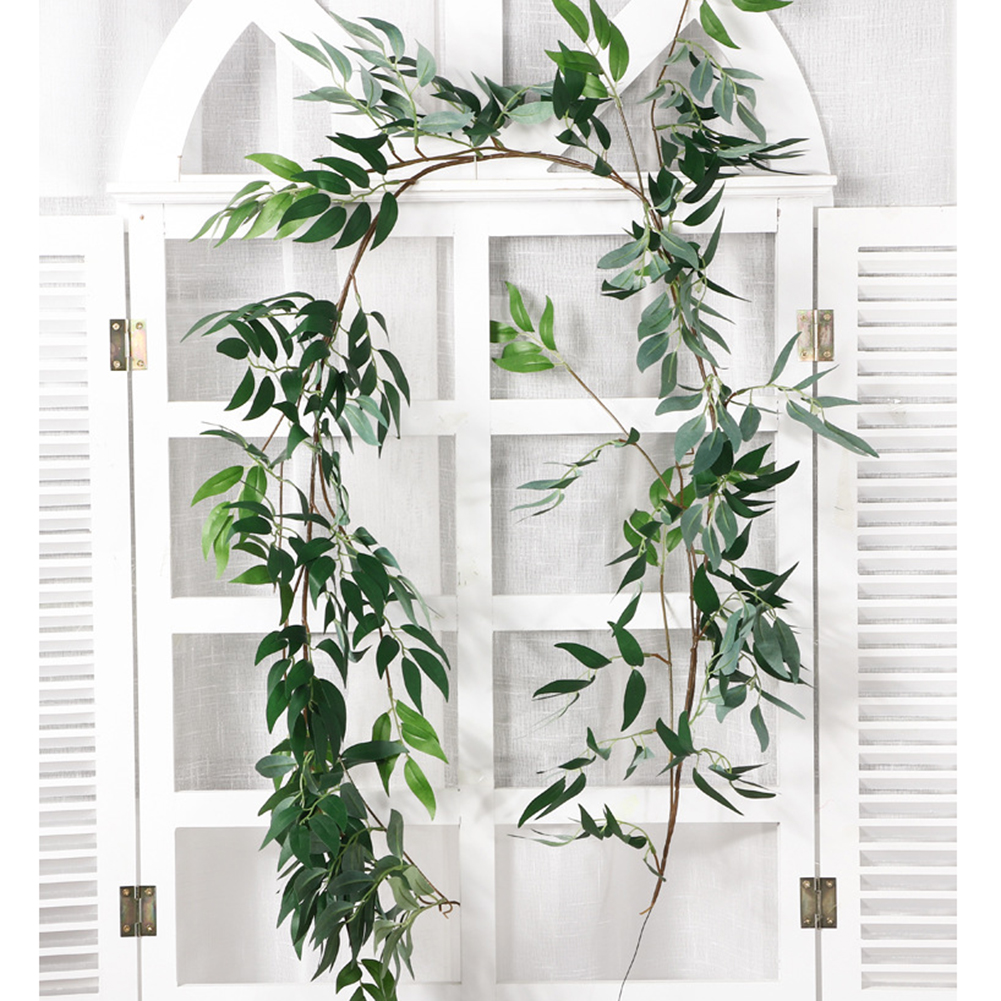 Artificial Hanging Willow Leaves Vines Simulation Green Plant Garland String for Home Garden Decoration