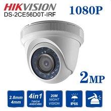 Hikvision, английская версия, 4 в 1, переключаемая DS-2CE56D0T-IRF, HD1080P, CCTV, камера безопасности, IR, 20 м, 2MP, камера ночного видения для помещений
