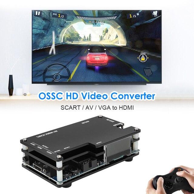 OSSC HDMI-compatible Converter for Retro Game Consoles Open Source Scan Converter for PlayStation 2 1 Xbox Sega Atari US EU Plug 4