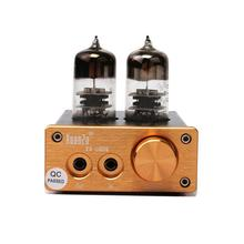 Integrated 6J9 Vacuum Tube (can replace) HIFI Mini Stereo Headphone Amplifier Board k guss a1 vacuum tube headphone amp 6k4 6j1 low ground noise integrated stereo amp audio hifi output protection for headphone
