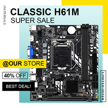 H61 Socket Mainboard Lga 1155 Intel Ddr3-Support PCI Chipset SATA DAIXU E-16x