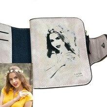 Фото гравировка Женские кошельки мода из искусственной кожи держатель для карт короткий дизайн высокое качество женский кошелек монетница женские кошельки