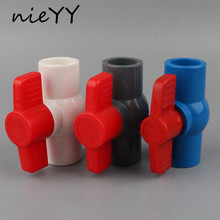 1Pc 20mmx20mm PVC Water Supply Ball Valve Slip Shut Handle Control Valve Water Tube Connectors Switch Water Supply Pipe Fittings цены