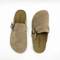 KINE PANDA Couple Slippers Woman Man Adult Cork Sandals Women Casual Beach Gladiator Flat Shoes Buckle Strap Size 35 44