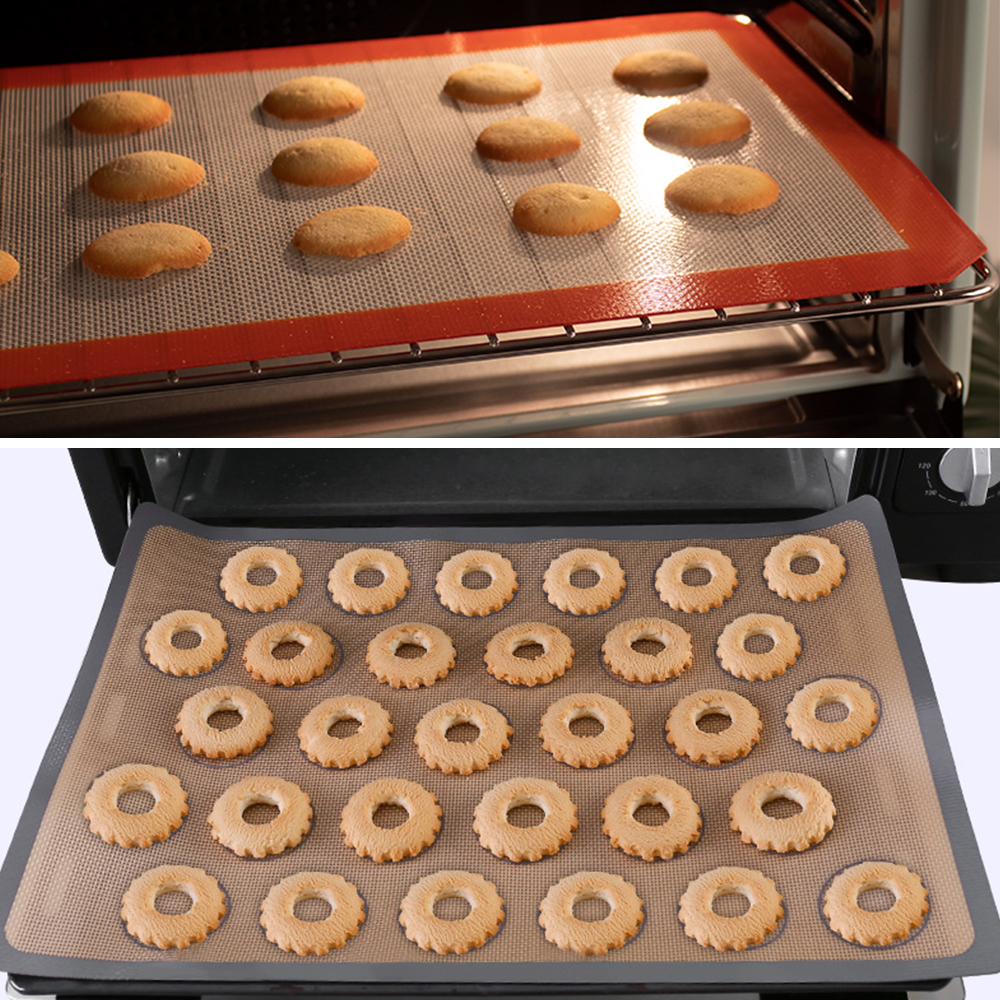 Onuobao macaron almofada de forno de cozimento de silicone casa biscoito feijão puffs retangular antiaderente pan forno não vara esteira