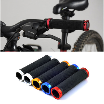1 Pair MTB Mountain Road Bike Bicycle Handlebar Grips Smooth Soft Rubber Anti-slip Covers Lock-on Bar Grips End Bike Accessories image