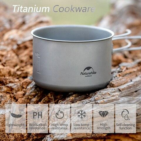 naturehike pote de titanio ao ar livre