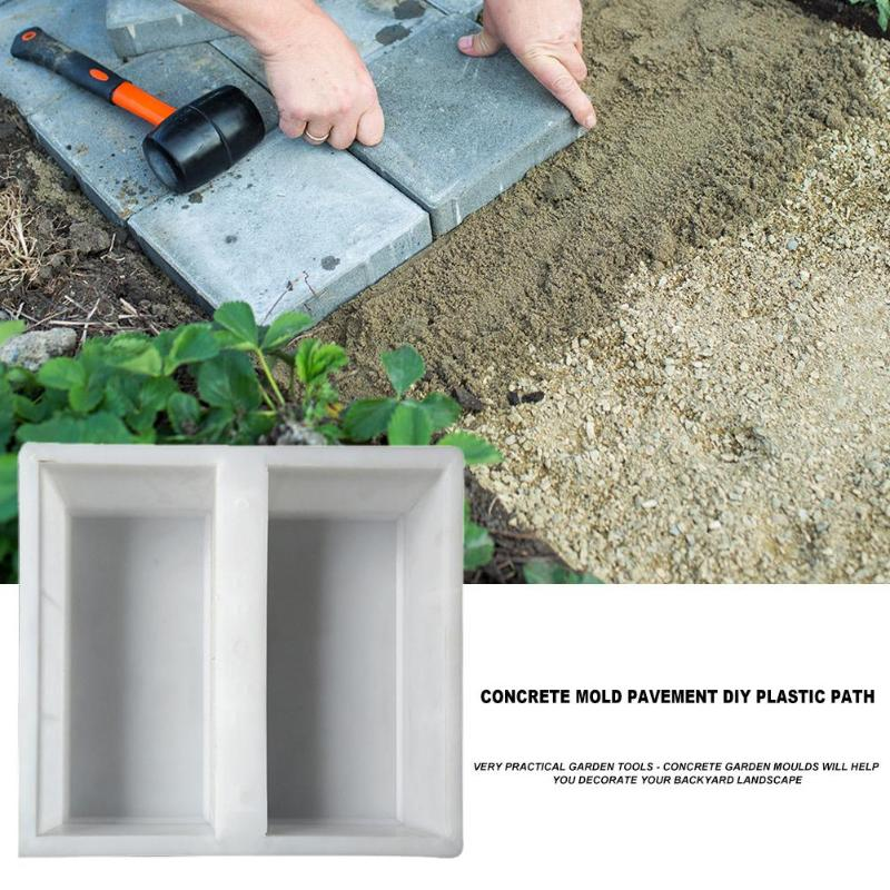 DIY Courtyard Road Pavement Stone Mold Path Paving Garden Concrete Brick Mould Use Heavy Plastic Mould Garden Stepping Stone New