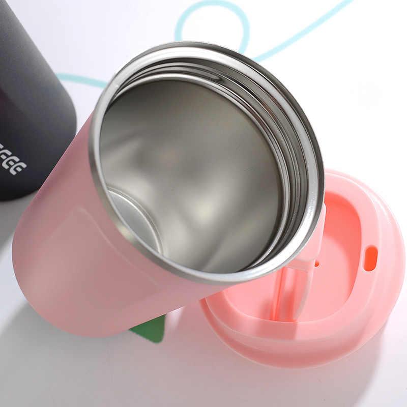ZOOOBE 380/510ML termo taza de café de acero inoxidable taza portátil de viaje café leche termo taza de vacío frascos termo