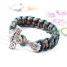 Hecho a mano Vintage nórdico vikingo ancla Charm Braceletes pulsera joyería India brazalete pulsera para mujer hombre accesorios de moda