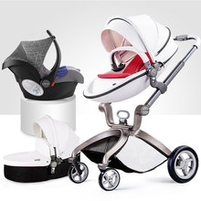 high landscape hotmom Deluxe PU Leather baby stroller,European standard, Infant