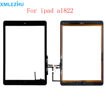 10Pcs Touch Screen For iPad 5th A1822 A1823 Digitizer Outer Panel Front Glass With home button +cable