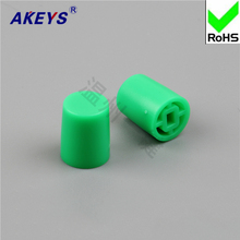 15pcs  A19 key cap/yellow, red, blue, white, black, green and grey with 7*7/8*8/8.5 self-locking cap switch 8*8 mixer fader knob cap word shouted hole width 8mm red and blue and yellow lime