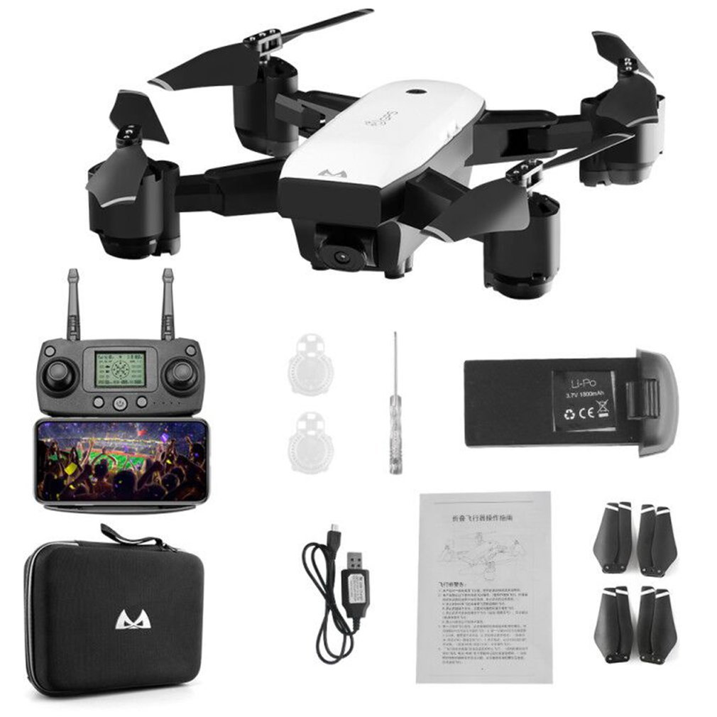 SMRC S20 Mini <font><b>GPS</b></font> Quadcopter <font><b>Drone</b></font> With 110 Degree Wide Angle Camera <font><b>1080P</b></font> WIFI FPV 2.4G Altitude Hold RC Portable Model NEW! image