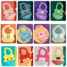 Baby Bib Adjustable In A Variety Of Styles Of Cartoon Pictures Waterproof Drip Bib Silicone Edible Soft Bib For Boys Girls Gifts