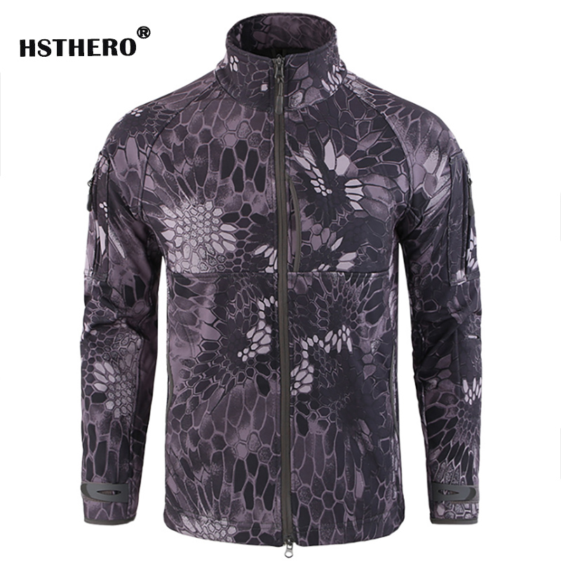 Army Mens Camouflage Coat Military Tactical Jacket Windbreak Men Soft Shell Waterproof Windproof Jacket Camo Hunt Clothes