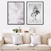 Abstract Art Nordic Canvas Painting Wall Art Black White Print Feather Poster Girl Bedroom Living Room Home Decor Unframed nordic canvas painting abstract living room golden art wall pictures print bedroom dinning room home decor unframed poster art