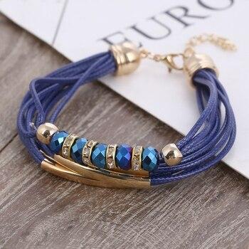 Fashion Multilayer Bracelet for Women Bracelets Jewelry Women Jewelry Metal Color: SL921