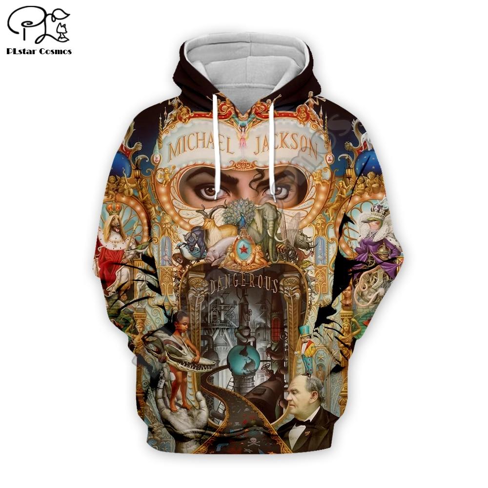 PLstar Cosmos PopStar King Singer Michael Jackson Hiphop Streetwear Pullover Unisex 3DPrint Zipper/Hoodies/Sweatshirt/Jacket S-1