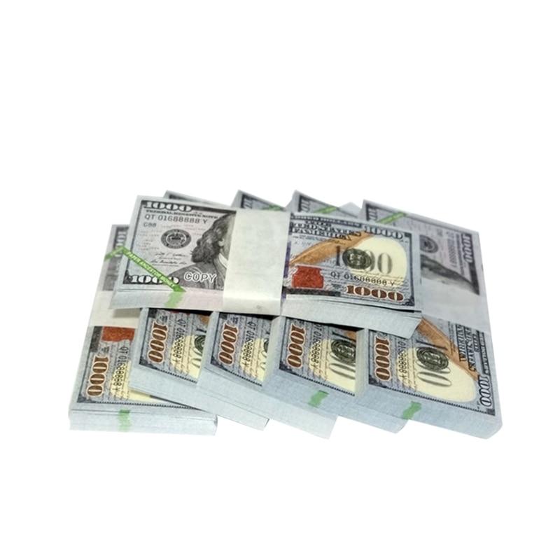 Papel céu inferno notas bancárias moeda prop dinheiro ancestral dólar (us.1000) feng
