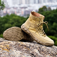 Autumn Outdoor Desert Non slip High top Women Hiking Boots Fashion Leather Martin Ankle Boots for Women Men High Climbing Shoes