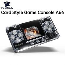 جديد POWKIDDY A66 الأطفال الرجعية صغيرة يده شفافة لعبة وحدة التحكم 2.0 بوصة اللون شاشة الكريستال السائل 4000 ألعاب هدايا للأطفال