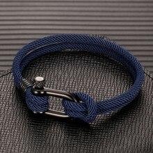 MKENDN Männer U form Überleben Armband Outdoor Camping Rettungs Notfall Seil Armband Für Frauen Schwarz Edelstahl Sport Schnalle