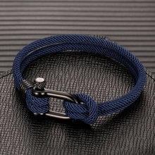 MKENDN Men U shape Survival Bracelet Outdoor Camping Rescue Emergency Rope Bracelet For
