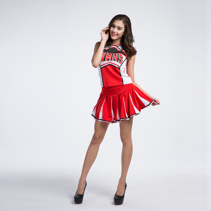 Opening Dancing Cheerleading Costumes Baseball High School Cheer Girl Women Sports Competition Show Cheerleader Party Uniform