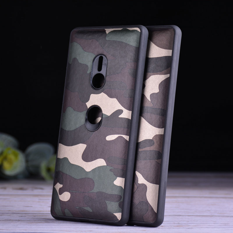 AIORIA Camouflage <font><b>case</b></font> for <font><b>Sony</b></font> <font><b>Xperia</b></font> <font><b>XZ3</b></font> <font><b>soft</b></font> <font><b>TPU</b></font> with pattern skin 2in1 material covers coque image