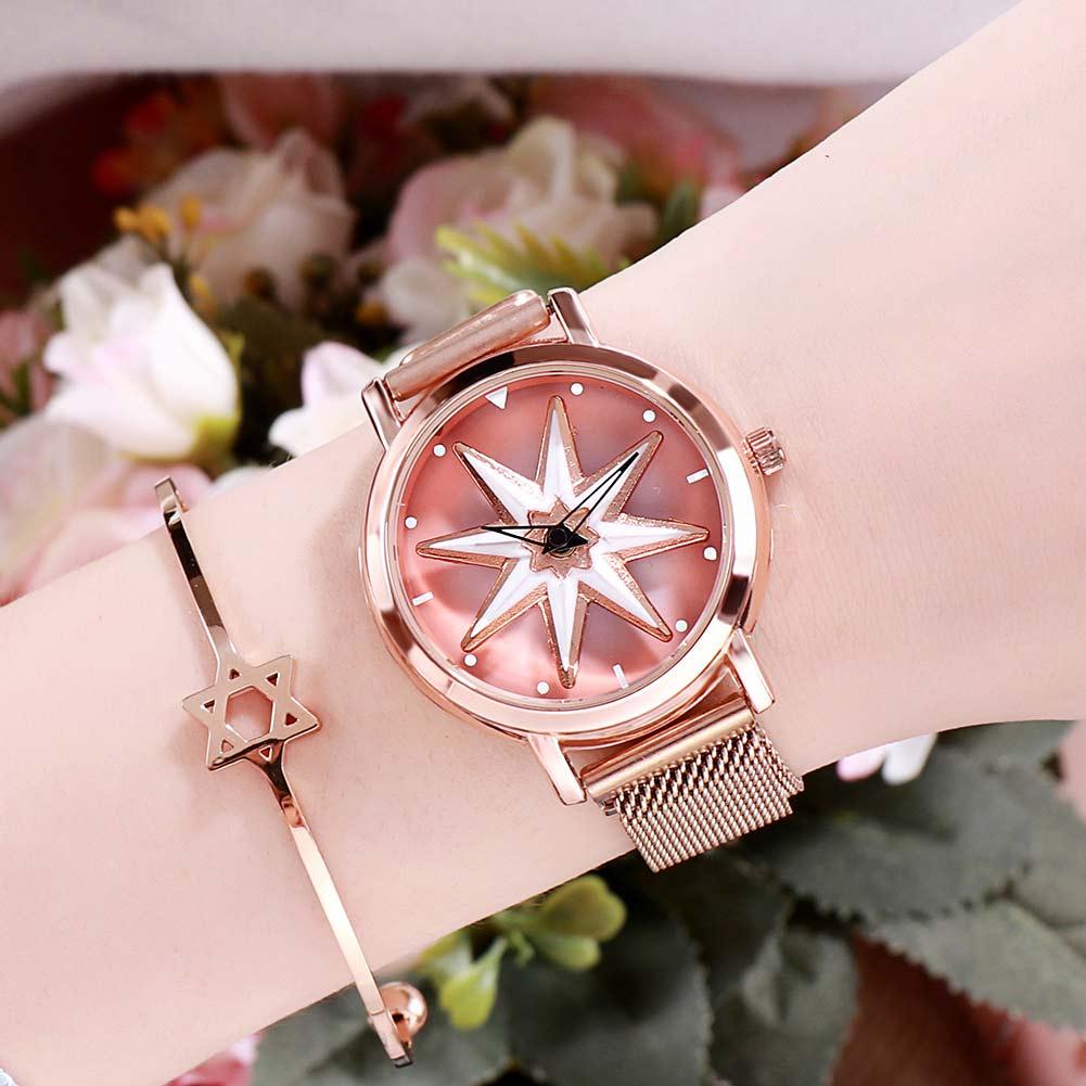Ladies Watch Rose Gold Magnetic Waterproof Female Wristwatch Luxury Rotating Women Watches  Relogio Feminino Reloj Mujer 2019