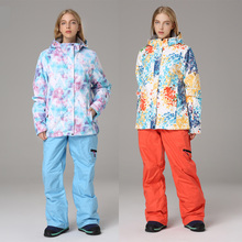 Pants-Set Ski-Suit Jacket Snow-Costumes Snowboarding Skiing Women Waterproof Warm Sportwear