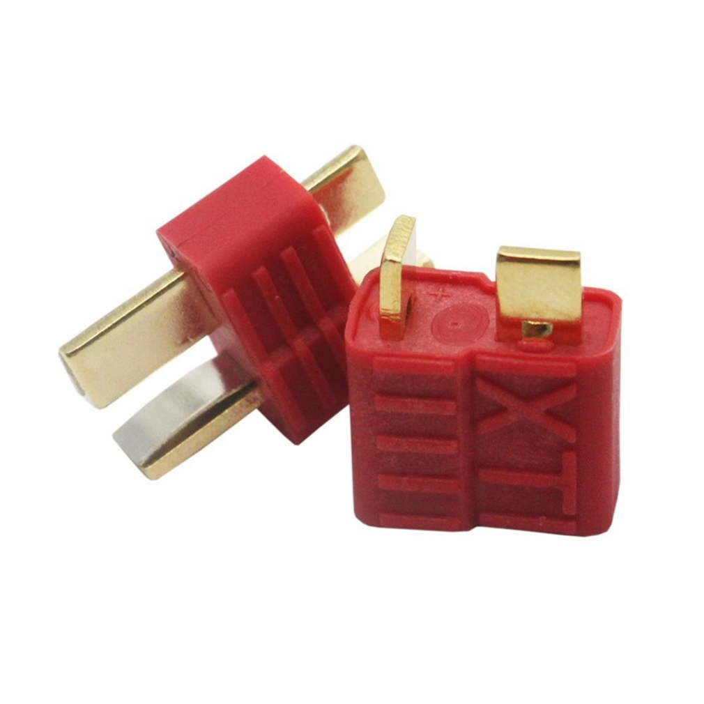 10 Pcs New T-Plug Non-slip Connector Male Deans For Deans RC Lipo Battery Helicopter 100A Gold Plated Deans