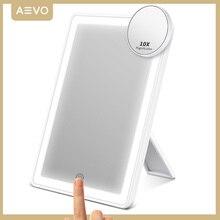 AEVO зеркало для макияжа с светильник 72-светодиодный светильник ing сенсорный Экран 10X косметическое зеркало настольное косметическое зеркало...