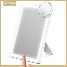 AEVO-Espejo de maquillaje con iluminación LED, espejo de tocador de escritorio con 72 LEDs, pantalla táctil, regalo para chicas