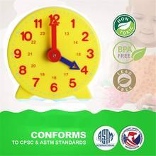 Montessori estudante aprendizagem relógio tempo professor engrenagem 4 Polegada 12/24 hora