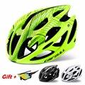 Стильный высокопрочный велосипедный шлем, Сверхлегкий дышащий велосипедный защитный шлем для мужчин, MTB дорожный велосипедный шлем, защище...