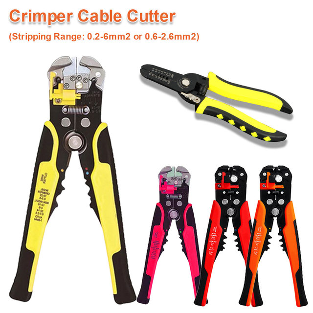 24-10AWG/ 0.2-6mm2 Automatic Wire Stripper Cable Cutter