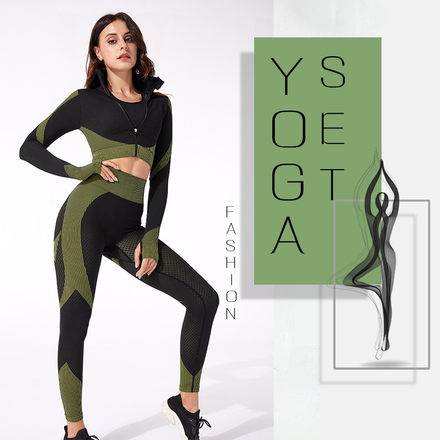 Yoga set seamless women sportswear yoga suit fitness Yoga Clothing Female Gym Suits Workout Running Clothes