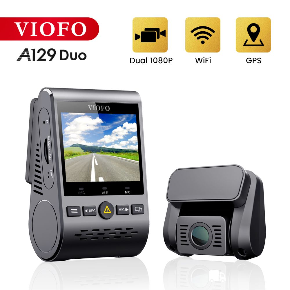 Rejestratory samochodowe kamera na deskę rozdzielczą z kamerą tylną samochodowy rejestrator wideo Full HD Night Vision 2 kamera do rejestracji wideo z czujnikiem G A129DUO Dashcam