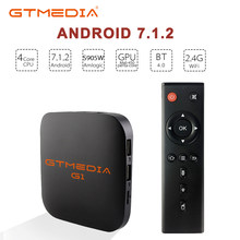 Original GTMEDIA G1 TV Box + IPTV server 4K HDR Android 7.1 Ultra HD 1G 8G WIFI Google Cast Netflix M3U Set top Box Media Player(China)