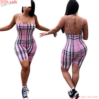 Plus Size Women Sexy Rompers Spaghetti Strap Jumpsuit Fashion Sexy Summer Sleeveless Shorts Romper Playsuit Sportswear Tracksuit 1