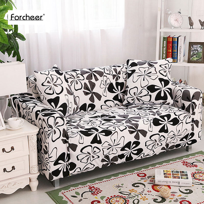 2019 Flower Printing Stretch Sofa Covers Elastic Slipcovers All inclusive Polyester Sofa Cushion Sofa Cover for