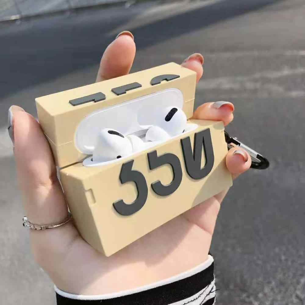 3d Case Boost 350 Shoe Box Silicone For Airpods Pro 3 Keychain