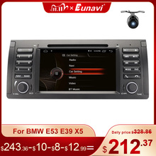 Eunavi 1 din 7 Android 10.0 Car dvd player For BMW E53 E39 X5 Quad core Auto radio Car Multimedia Stereo with DSP WIFI BT SWC
