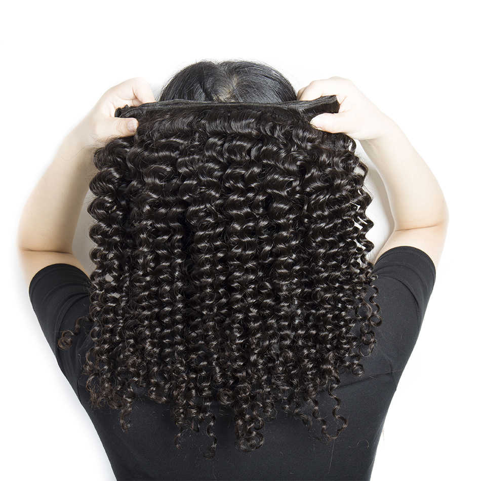 Alibele Malaysian Deep Curly Wave Bundles With Frontal Closure M Remy Human Hair 3 Bundles With 13x4 Ear To Ear Frontal Closure