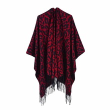 new 2019 womens scarf is a versatile autumn/winter travel/camping fashion leopard-print cape