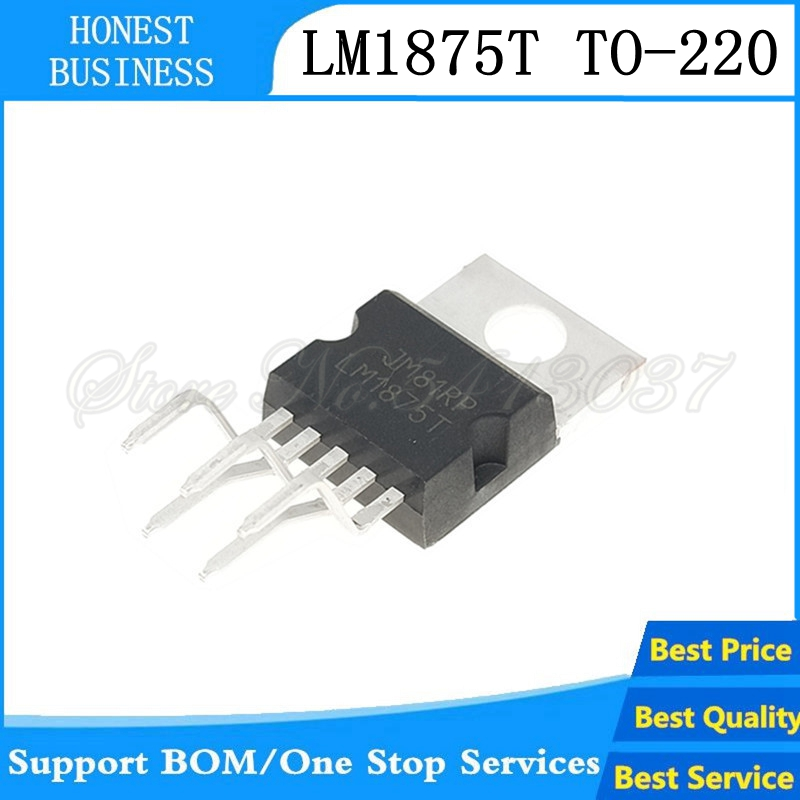 20PCS-50PCS LM1875 Audio 20 Watts Power Amplifier IC, <font><b>LM1875T</b></font> TO-220-5 <font><b>TO220</b></font> image