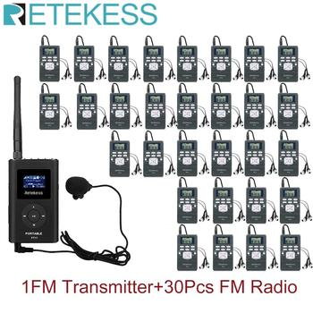 1 FM Transmitter FT11+30Pcs FM Radio Receiver PR13 Wireless Voice Transmission System For Guiding Church Meeting Training 1