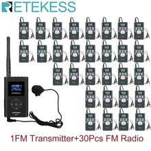 Radio-Receiver 1-Fm-Transmitter Voice-Transmission-System Wireless PR13 FT11 for Guiding